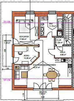 Erstbezug: ansprechende 3,5-Zimmer-Dachgeschosswohnung mit Balkon in Oderding