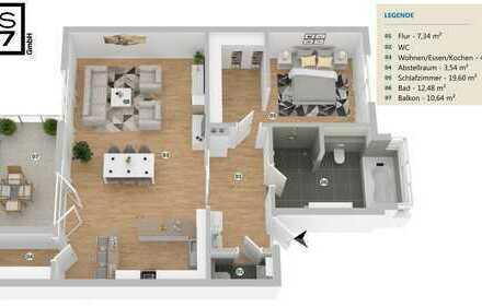 D-Pempelfort: Erstbezug nach Sanierung! 2-Zimmer-Eigentumswohnung mit Balkon