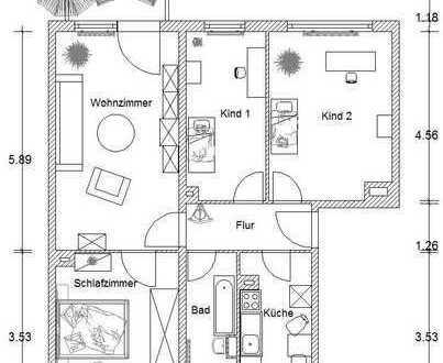 Bezugsfertige 4-Raumwohnung im schönen Möckern