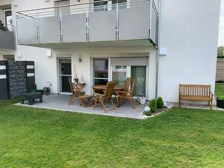 3-Zi.-Wohnung mit Terrasse, Garten, Personenaufzug, Tiefgarage, Außenstellplatz, Keller,