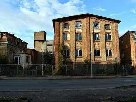 Ehemalige Fabrikgebäude - Lageplan gelb markiert