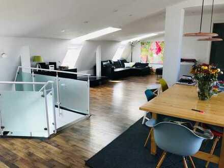 Galeriegeschoßwohnung mit Dachterrasse - Au - Direkt an der Isar -