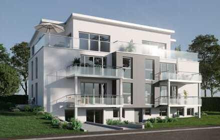 Neubau: Stufenlose EG Wohnung mit Terrasse und Gartenanteil