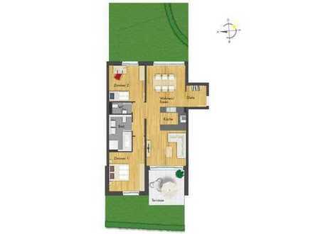 Praktisch geschnittene 3-Zimmer-Erdgeschosswohnung