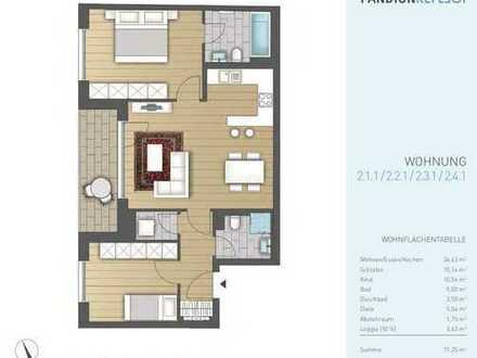 Erstbezug: schöne 3-Zimmer-Wohnung mit Balkon in Neuhausen, München