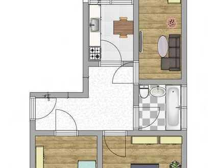 offene Besichtigung 06.06.2020 15:00 Uhr *Neu renovierte 3 Zimmer Wohnung im Erdgeschoss