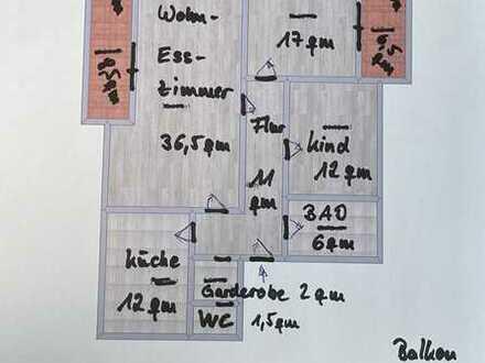 NEU NEU Komplett renovierte 3-Zimmer Wohnung in Oberndorf