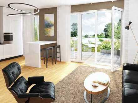 Wohnen im Grünen! Komfortable 2-Zimmer-Wohnung mit großer Terrasse am Ingelheimer Garten