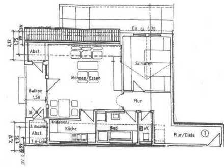 Sanierte 2,5-Raum-Wohnung mit Balkon und Einbauküche in Filderstadt