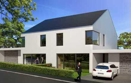 Neubaugebiet: Großzügiges Doppelhaus in Top-Aussichtslage direkt am Rande des Wohngebiets