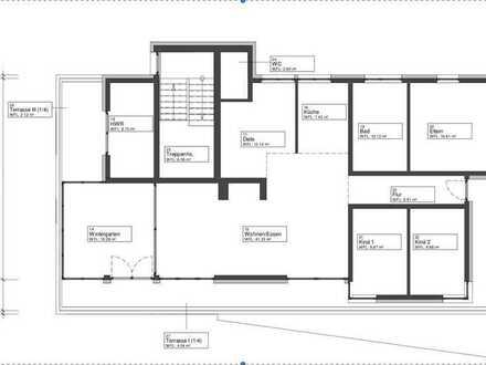 Attraktive 5-Zimmer-Penthouse-Wohnung, neu saniert mit EBK, Balkon und Garten