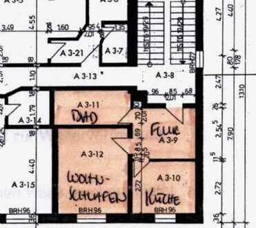 Apartment 40qm Wohnraum, incl. Einbauküche, Flur, Bad, Keller.
