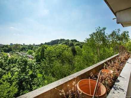 Direkt am Luitpoldpark - Helle 3-Zimmer-Wohnung mit 2 Balkonen im Erbbaurecht mit vorzüglicher Anbin