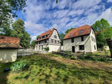 Leben in historischen Mauern - Dreiteiliges Mühlenanwesen auf riesigem Grundstück in Frankfurt