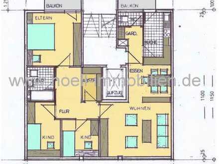 Licht durchflutete, gepflegte 4,5 Zimmer-Whg. mit EBK und 2 Balkonen in Pforzheim-City