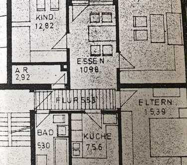 Gepflegte 3,5-Zimmer-Wohnung mit Balkon und Einbauküche in Nördlingen