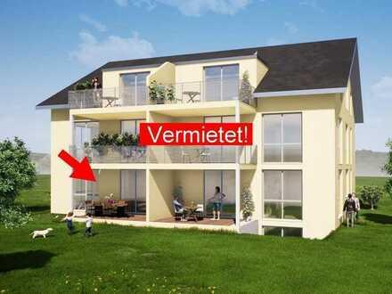 Neubau: Erstbezug 3,5 Zimmer EG- Wohnung mit Terrasse