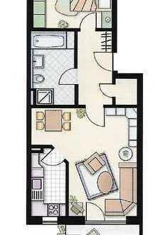 Exklusive 2-Zimmer-Wohnung mit Balkon in Königsbrunn