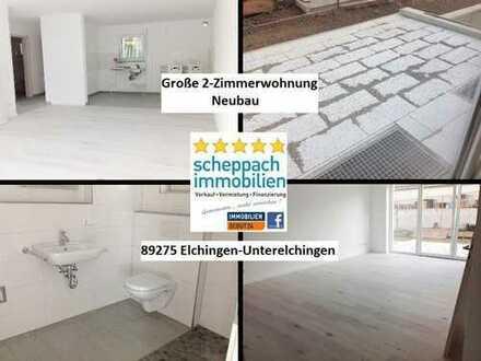 Gehobener Neubau-Zweitbezug in Unterelchingen... EG-Hochparterre mit Terrasse!