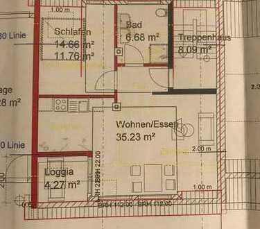 Erstbezug mit Einbauküche und Balkon: exklusive 2-Zimmer-Dachgeschosswohnung in Plochingen