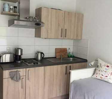 Möbliertes 1-Zimmer-Apartment mit Terrasse und Einbauküche in Passau zur Zwischenmiete