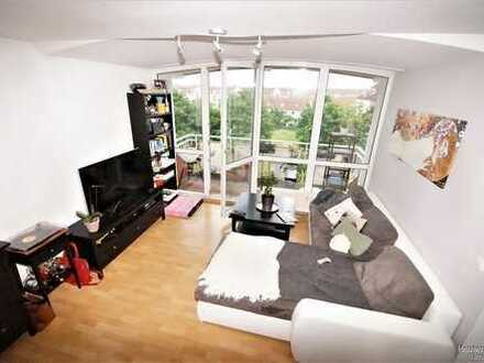 Großzügige, zentrale und helle 2-Zimmer-Maisonette-Wohnung