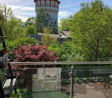 Wohnen mit Blick auf den Wasserturm