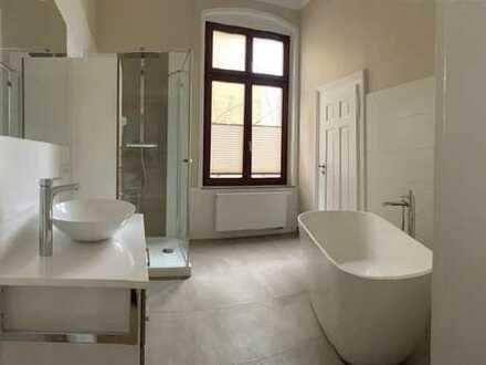 Herrschaftliche 5-Raum-Wohnung mit exklusivem Bad und neuer Einbauküche zu vermieten