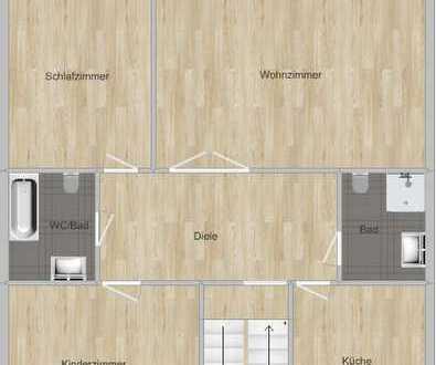 Stilvolle, vollständig renovierte 3-Zimmer-Wohnung mit Balkon und 2 Bädern in Düsseldorf