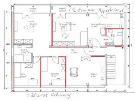 Erstbezug nach Sanierung: 3-Zimmer-Wohnung mit Balkon in Stuttgart