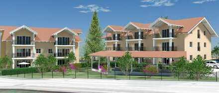 Attraktive 3 Zi.-Erdgeschosswohnung Südausrichtung mit 2 Terrassen & Gartenanteil