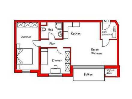 Toll geschnittene 3-Zimmer Wohnung mit Balkon
