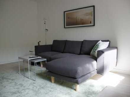 Schöne möblierte 2-Zimmer Wohnung in Hamburg, Hamm-Nord frisch saniert