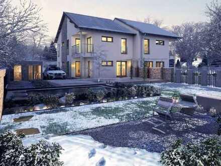 Doppel oder Zweifamilienhaus, Freunde oder Familie unter einem Dach