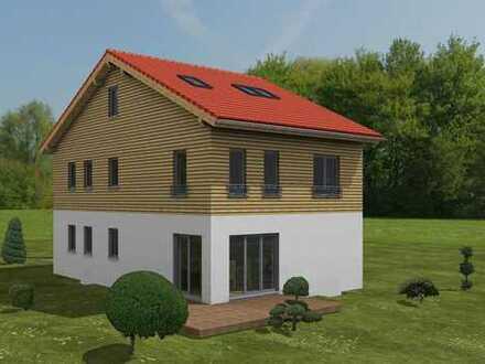 Großzügige Doppelhaushälfte in Holzbauweise zu verkaufen
