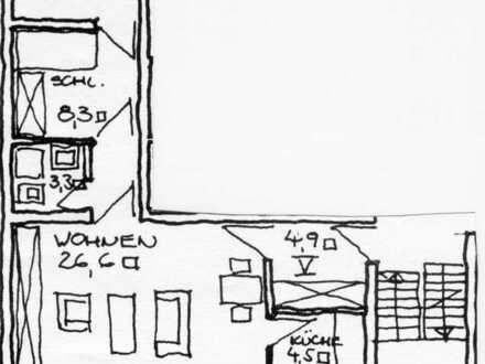 2 1/2-Zi.-Wohnung mit Balkon an ruhige Einzelperson in Höchsten-Mitte, Wittbräucker Str.