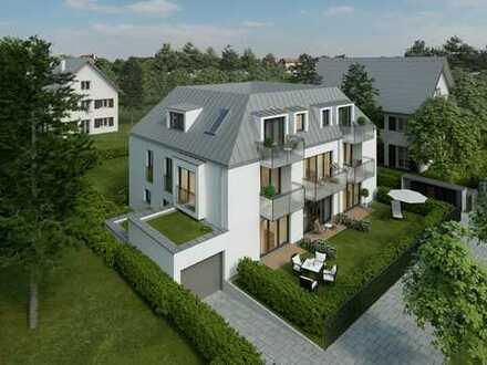 Neubau 3 Zimmer Gartenwohnung mit Hobbyraum mit ca. 65qm Privatgarten.