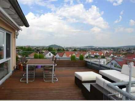 Wohnen über den Dächern von Ditzingen - Außergewöhnliche Maisonettewohnung!