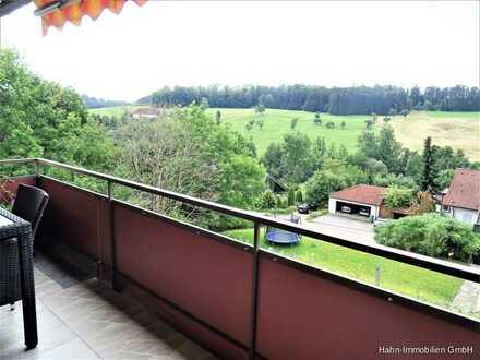 Gepflegte 3,5-Zi.-Wohnung mit Balkon und Einzelgarage in ruhiger Ortsrandlage!!!