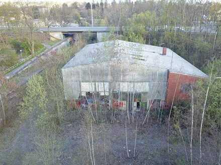 Teil eines ehemaligen Bahnbetriebswerkes - leerstehend
