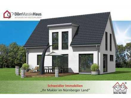 """Freistehendes Neubau-Einfamilienhaus auf ruhigem """"Inselgrundstück"""" in Rückersdorf"""