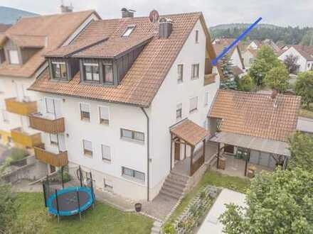 Freie ca. 97 m² große 3-Zimmer-Wohnung, mit Gartenanteil und Fernblick in Hersbruck