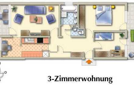Gepflegte 3-Zimmer-Wohnung mit zwei Loggias und Einbauküche in Kaufbeuren