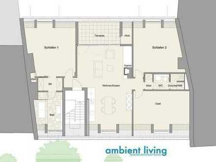 Luxuriöser 40m² Zimmerkomplex mit eigenem Bad und begehbarem Kleiderschrank in neuer Penthouse-WG mi