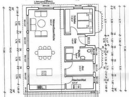 Erstbezug: 3-Zimmer-Loft - Obergeschosswohnung mit Einbauküche in Zweifamilienhaus in Crailsheim