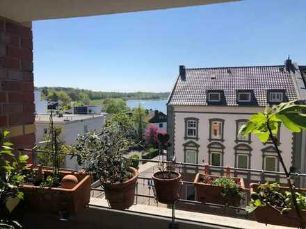 Düsseldorf Benrath: 4 Zimmer Maisonettewohnung mit Rheinblick