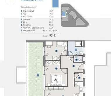 Penthouse; Lichtdurchflutete PH Wohnung - fortschrittlich, nachhaltig, innovativ