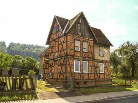 älteres Einfamilienhaus mit Nebengebäude und großem Garten