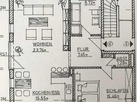 Schöne, geräumige zwei Zimmer Wohnung mit Küche in Mering