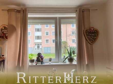 Ruhige, renovierungsbedürftige Wohnung für kleinen Geldbeutel!